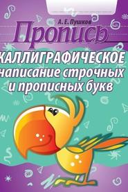 Пушков А.Е. Каллиграфическое написание строчных и прописных букв