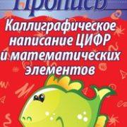 Пушков А.Е. Каллиграфическое написание цифр и математических элементов. Пропись