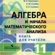 Пратусевич М.Я., Столбов К.М., Соломин В.Н. Алгебра и начала математического анализа. 11 класс. Книга для учителя. Профильный уровень