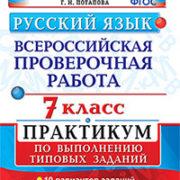Потапова Г.Н. Русский язык. Всероссийская проверочная работа. 7 класс. Практикум по выполнению типов