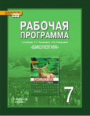 Новикова С.Н., Романова Н.И. Биология. 7 класс. Рабочая программа. 2 часа в неделю