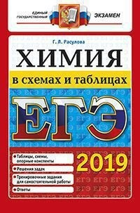 Расулова Г.Л. ЕГЭ 2019. Химия в схемах и таблицах