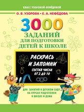 Узорова О.В., Нефедова Е.А. 3000 заданий для подготовки детей к школе. Раскрась и запомни