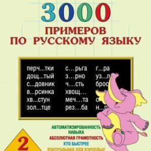 Узорова О.В., Нефедова Е.А. 3000 примеров по русскому языку. 2 класс. Крупный шрифт