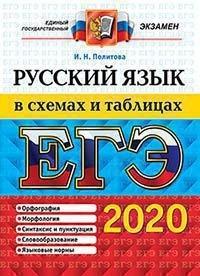Политова ЕГЭ 2020 русский язык в схемах и таблицах купить