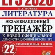 Ерохина Е.Л. ЕГЭ 2020. Литература. Экзаменационный тренажер. 22 варианта